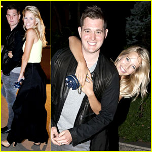 Michael Buble & Luisana Lopilato: Playful Parioli Pair!