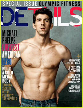 Michael Phelps: Shirtless on 'Details' Olympics Issue!
