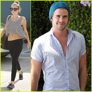 Liam Hemsworth & Miley Cyrus: Hollywood Errands!
