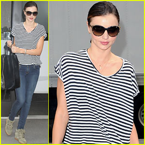 Miranda Kerr: Early Morning Stripes!