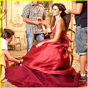 Penelope Cruz's Campari Shoot - Behind the Scenes Pics!