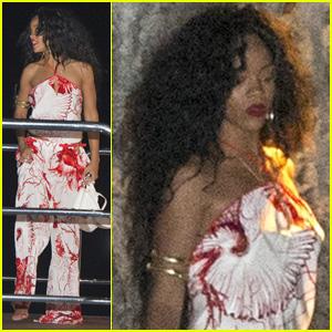 Rihanna: Capri Dinner Getaway!