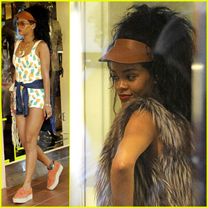 Rihanna: Sardinia Shopping Spree!