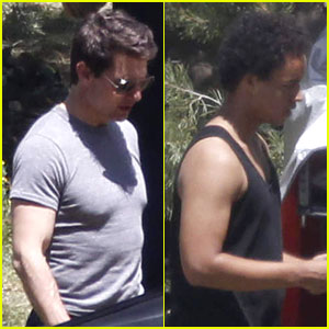 Tom Cruise Visited By Son Connor on 'Oblivion' Set