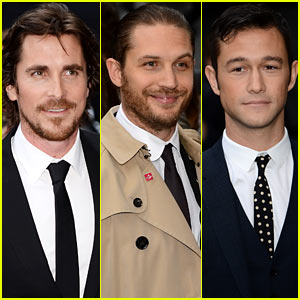 Christian Bale & Tom Hardy Premiere 'Dark Knight Rises' in Europe!
