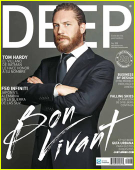 Tom Hardy Covers 'Deep Magazine' July 2012