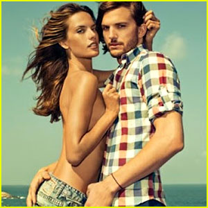 Ashton Kutcher & Topless Alessandra Ambrosio: Colcci Campaign!