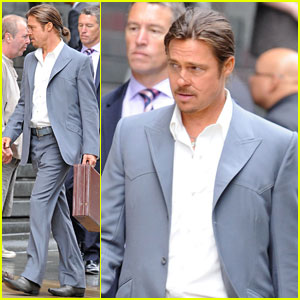 Brad Pitt: Ponytail for 'The Counselor'