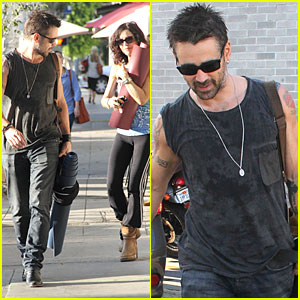 Colin Farrell: Yogaworks Regular!