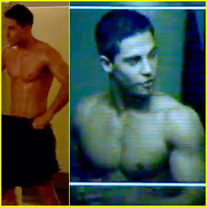 Dean Geyer: Shirtless in 'Glee' Season 4 First Look Video!