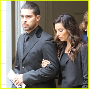 Eva Longoria &#038; Wilmer Valderrama Attend Lupe Ontiveros' Funeral