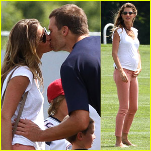 Gisele Bundchen: Training Camp with Tom Brady & Kids!