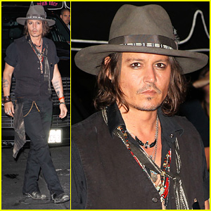 Johnny Depp: Pink Taco Aerosmith After Party!