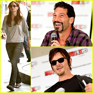 Jon Bernthal & Norman Reedus: 'Walking Dead' at Fan Expo!