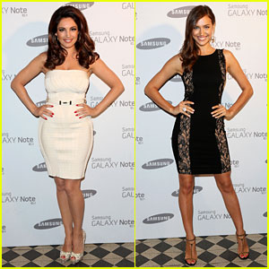 Kelly Brook & Irina Shayk: Samsung Launch in London!