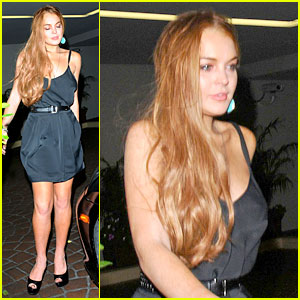 Lindsay Lohan: 'Canyons' Wrap Party with Mom & Cody!