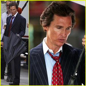 Matthew McConaughey: 'Wolf of Wall Street' Set!