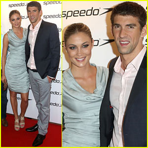 Michael Phelps & Megan Rossee: Red Carpet Couple Debut!