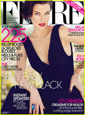 Milla Jovovich Covers 'Flare' October 2012