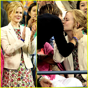 Nicole Kidman: U.S. Open Kisses with Keith Urban!