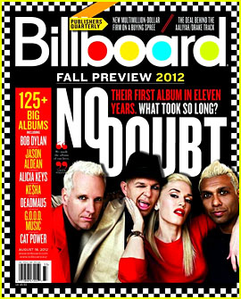 No Doubt Covers 'Billboard' Fall Music Preview 2012