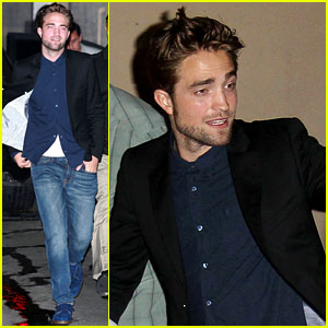 Robert Pattinson: 'Jimmy Kimmel Live' Arrival!