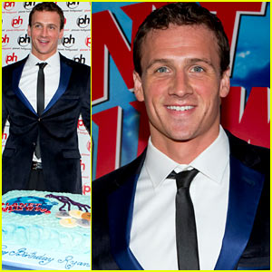 Ryan Lochte is ready to party at his 28th birthday bash held at Planet 