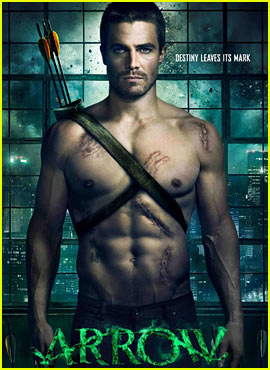 Stephen Amell: Shirtless for 'Arrow' Poster!