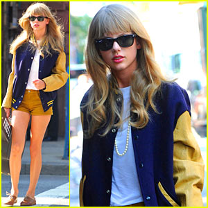 Taylor Swift: Guitar Case Walk in NYC
