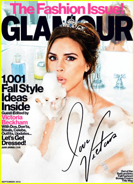 Victoria Beckham Covers 'Glamour's' Fashion Issue September 2012