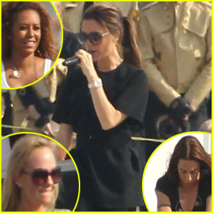 Victoria Beckham & the Spice Girls: Olympics Reunion Rehearsal!