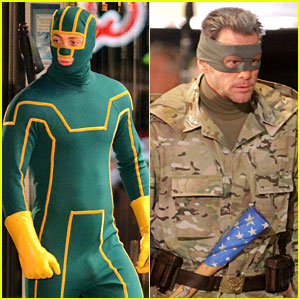 Aaron Taylor-Johnson & Jim Carrey: 'Kick-Ass 2' Set!