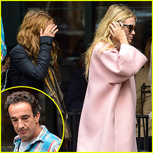 Ashley & Mary-Kate Olsen: Lunch with Oliver Sarkozy!