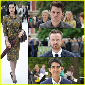Dita Von Teese & Jeremy Irvine: Burberry Fashion Show in London!