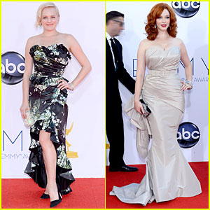 Elisabeth Moss & Christina Hendricks - Emmys 2012 Red Carpet