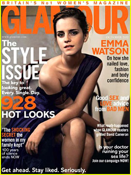 Emma Watson Covers 'Glamour UK' October 2012