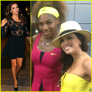 Eva Longoria Cheers Serena Williams at the US Open!