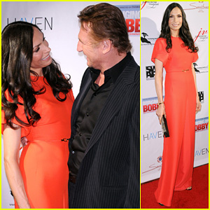 Famke Janssen: 'Bringing Up Bobby' Premiere with Liam Neeson!