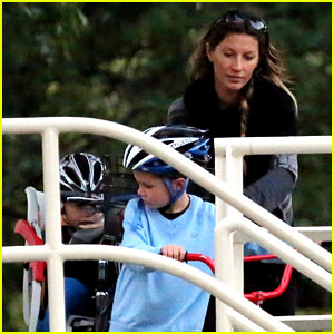 Gisele Bundchen: Bike Ride with the Boys!
