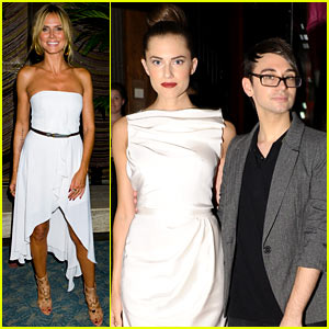 Heidi Klum: Brian Atwood & Christian Siriano Parties for NYFW!