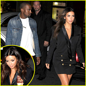 Kim Kardashian & Kanye West: Ice Cream Cone Couple!