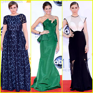 Lena Dunham &#038; Allison Williams - Emmys 2012 Red Carpet