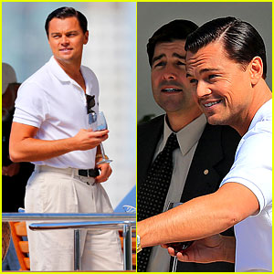 Leonardo DiCaprio: 'Wolf of Wall Street' Set with Kyle Chandler!