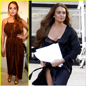 Lindsay Lohan: Lady Gaga Party & 'Scary Movie 5' Set!