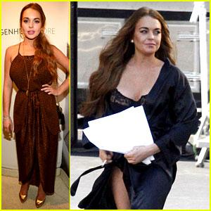 Lindsay Lohan: Lady Gaga Party & 'Scary Movie 5' Set!
