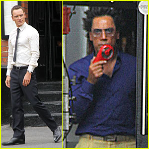 Michael Fassbender & Javier Bardem: 'Counselor' Set!