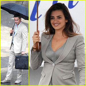 Penelope Cruz & Michael Fassbender: Umbrellas on 'Counselor' Set!