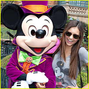 Nina Dobrev: Haunted Mansion at Disney's Magic Kingdom!