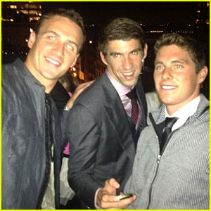 Ryan Lochte & Michael Phelps Reunite at NYFW Event!