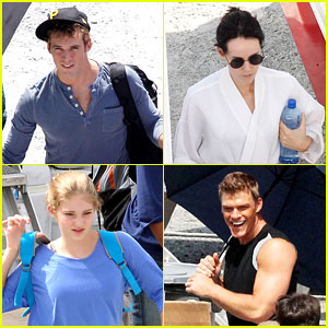 Sam Claflin & Jena Malone: 'Hunger Games: Catching Fire' Set!